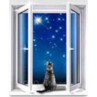Окно ПВХ(металлопластик) Proplex Двухстворчатое 12901400