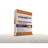 Клей для керамической плитки и керамогранита Стандарт № 13 25 кг