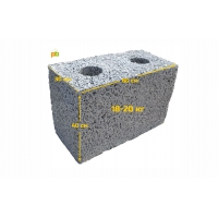 Полистиролбетонные пустотные блоки, размер 60*40*30 см (+/-5 мм)