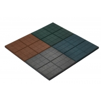 Резиновая плитка 350х350 мм