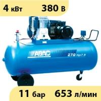 Масляный ременной двухступенчатый компрессор ABAC B5900B/270 CT5,5