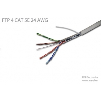 Витая пара AVS Electronics FTP4CAT5e 24AWG Cu
