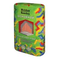 Сухие смеси WEISBAU (Вайсбау Клей плиточный  ОСНОВНОЙ адгезия 0,5 МПа 25 кг