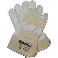 Перчатки кожанные комбинированные усиленные WorKer per2235
