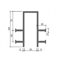 Гидроизоляционная шпонка АКВАСТОП ДЗ-140/50-4/35 (ПВХ-П)