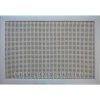 Экран для батареи фасад выполненный из ротангового полотна