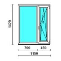 Окно двухстворчатое Rehau Euro-Design 137