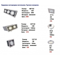 Карданные светодиодные светильники LEDBURG