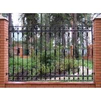 Металлический забор и ворота