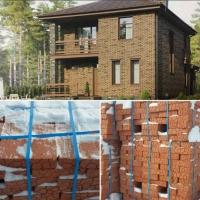 Строящийся кирпичный дом 125 квадратов на 6 сотках