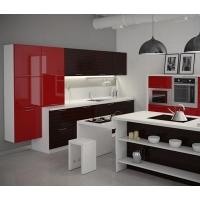 Кухня «Квадра» фасад пластик Гармония-Мебель цена за п.м.