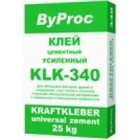 Качественные и недорогие сухие смеси ByProc ByProc Клей усиленный KLК - 340 (25 кг)