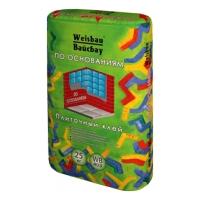 Сухие смеси WEISBAU (Вайсбау Клей плиточный  ПО ОСНОВАНИЯМ адгезия 0,7 МПа 25 кг
