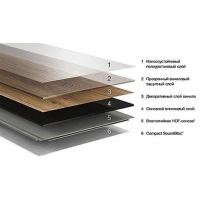 Замковое ПВХ напольное покрытие на древесно-полимерном композите