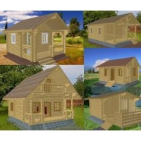 Садово-дачные домики из оцилиндрованного бревна АртСтрой