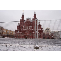 Строительные Сетчатые ограждения РОССИЯ (Усиленные).  2000х3000 мм на Бетонных блоках