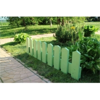Заборчики для клумб в деревенском стиле