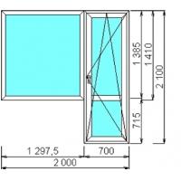 Балконный блок ExprofProWin 58 мм