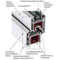 4-х камерный ПВХ- профиль 60 мм LG Hausys L60NR