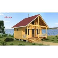 Деревянные дома из клееного бруса S=48 кв.м. Евлашевский ДОК