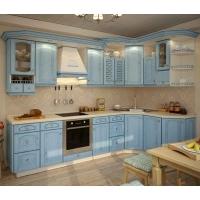 Кухня «Лазурь» фасад массив ясеня Гармония-Мебель цена за п.м.