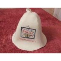 банная шапка  колпак с вышивкой