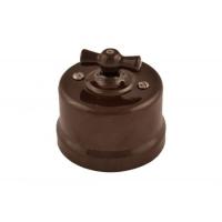 Керамический 1-клавишный выключатель в стиле ретро, коричневый BIRONI В1-201-02
