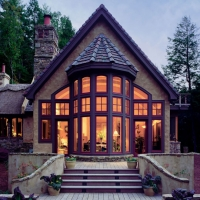 Деревянные окна, евроокна от компании Оригинал дома из оцилиндрованного бревна