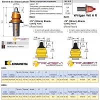 Резцы для дорожных фрез Barat Carbide, Kennametal Wirtgen W6 HR, RM3-T9, RZ24, RZ25