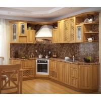 Кухня «Уют» фасад массив ясеня (лак) Гармония-Мебель цена за п.м.