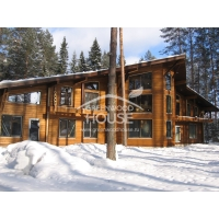 Энергопассивный дом из клееного бруса с утеплителем Green Wood House