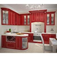 Кухня «Версаль» фасад МДФ покраска с патиной Гармония-Мебель цена за п.м.