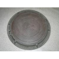 Канализационный (смотровой) люк полимерпесчанный, садовый коричн