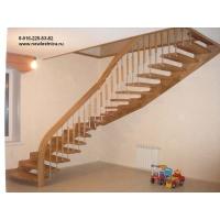 Деревянная лестница на больцах. Индивидуальные проекты Новая Лестница