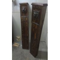 Декоративный столб из массива Лиственницы с маскароном