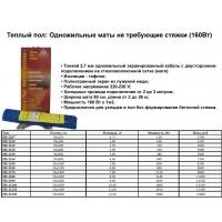 Кабельный теплый пол  ARNOLD RAK GmbH HAUSTECHNIK (Германия). ARNOLD RAK Теплый пол: Одножильные маты не требующие стяжки (160Вт)