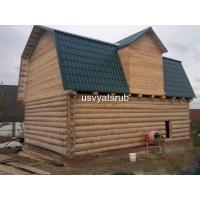 Дом 6х8+мансарда из бревна ручной рубки