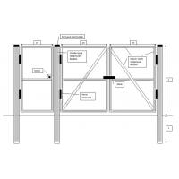 Реализуем распашные металлические ворота готовые к монтажу