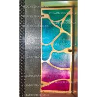 Стеклянные двери, полотна, перегородки по технологии фьюзинг Вилла-Декор