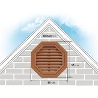 Решетка вентиляционная фронтонная