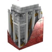 система вентфасада с монтажом в межэтажные перекрытия Альт-Фасад