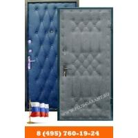 Металлические двери Гарант Плюс с отделкой винилискожа-винилискожа с рисунком (дутая)