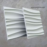 Гипсовые 3D панели - Волна двойная острая