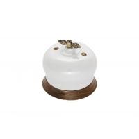 """Двухклавишный фарфоровый выключатель """"Фаберже"""", цвет:  BIRONI В2-202-010/18"""