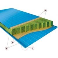 Сэндвич-панели трехслойные стеновые Ecopanel с минватой Ecopanel