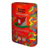 Сухие смеси WEISBAU (Вайсбау Штукатурка цементная для фасадов и цоколей  ФАСАДНАЯ 25 к