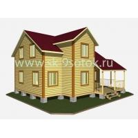 Дом из профилированного бруса 8,5х9,5 метра «Всеславец» СК 9 Соток