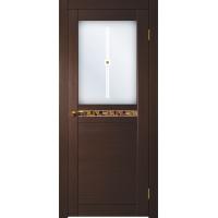 """Двери межкомнатные Матадор Дверное полотно """"Орфей"""" полуоткр. (венге)"""