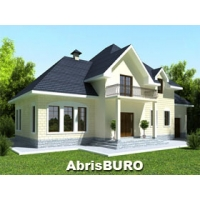 Готовые проекты коттеджей с гаражом и террасой ABRISBURO