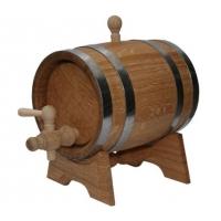 Бочка дубовая на подставке с краном 20 литров